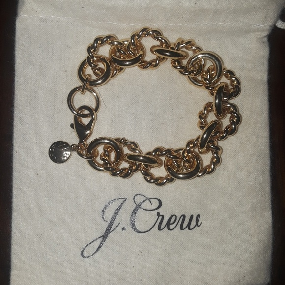 J. Crew Jewelry - J.Crew gold chainlink braclet